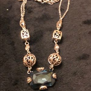 Brighton blue stone necklace